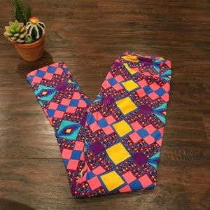 4/$25 Lularoe | kaleidoscope colorful leggings